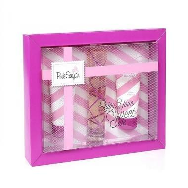 Aquolina Pink Sugar coffret Edt 50 + bagno 50+ crema 50 ml Donna