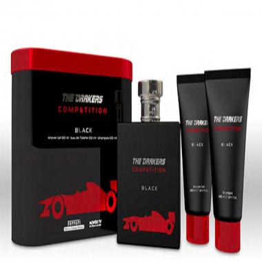 Drakers by Ferrari Competition Set regalo in latta nera edt 100ml + S Gel 100ml + ASB 100ml
