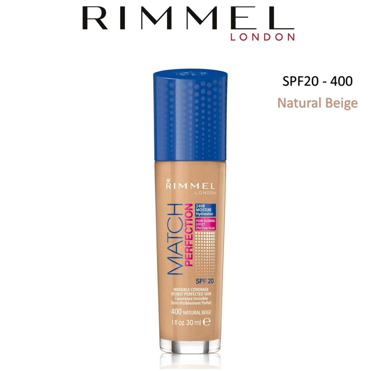 Rimmel Fondotinta Match Fluido 400 ( Natural Beige ) 30 ml