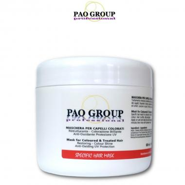 Pao Group Maschera per Capelli Colorati 500 ml
