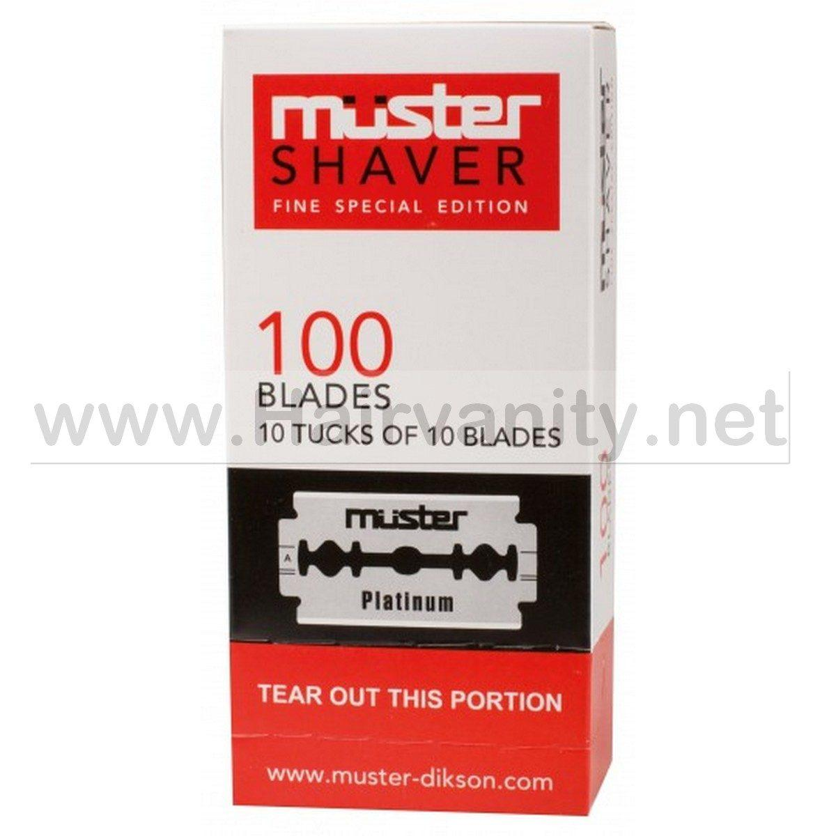 "Muster Lame "" Muster Shaver"" Platinum Box 100 pz."