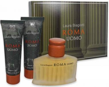 Laura Biagiotti Roma Uomo Edt 75 ml + Shower Gel 50 ml + 50 ml