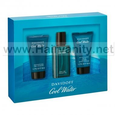 Davidoff Cool Water coffret Edt 40 ml + After Shave 50 ml + Bagno 50 ml