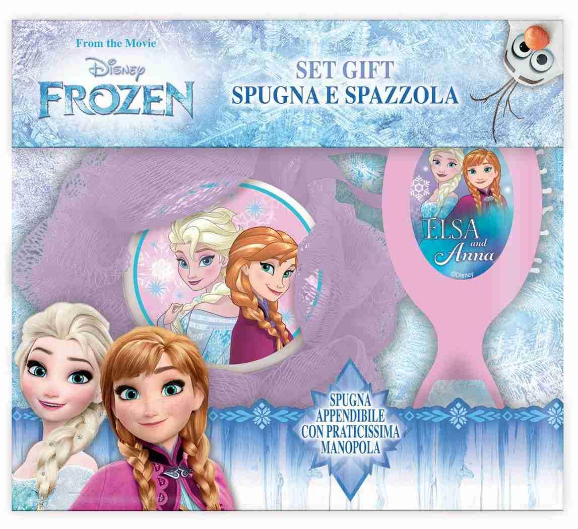 Disney Frozen Set Regalo Spugna e Spazzola