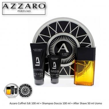 Azzaro Coffret Edt 100 ml + Shampoo Doccia 100 ml + After Shave 50 ml Uomo